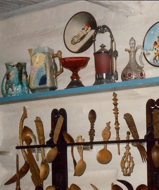 Some of the utensils in the kitchen