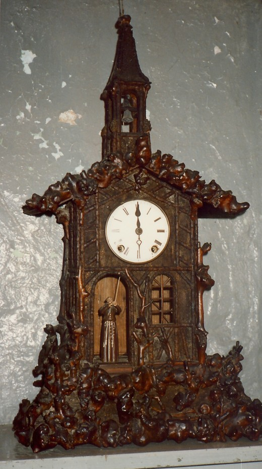 Elaborately carved clock