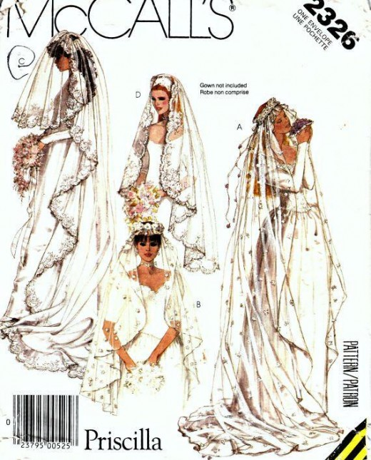 Patterns for bridal veils are as close as your local fabric store!