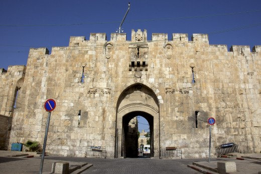 The Lion's gate in Jerusalem, Israel that was going to be the entrance of the Israel Pavilion.