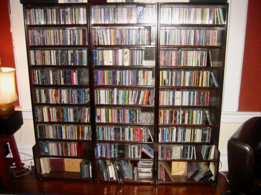CD racks can take up most of a wall and store thousands of discs
