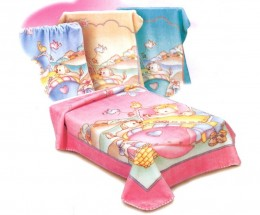 Commercially available baby blankets can be very attractive