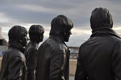 Statues of the Beatles in Liverpool. Cool.