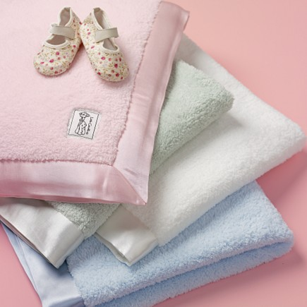 A Baby blanket is available in a wide variety of colors and materials