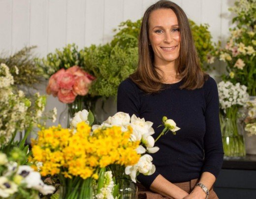 Philippa Craddock, top florist in charge of flowers.