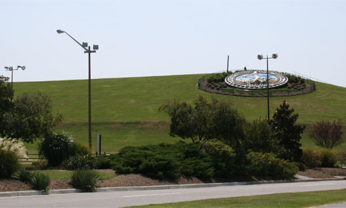 The Virginia Beach City Seal on the north side of Mt Trashmore