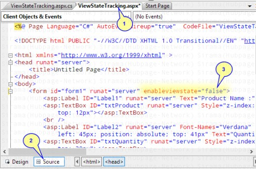 Setting EnableViewState To False