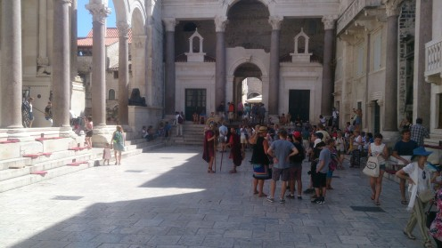 Palace of Diocletian with the Roman guards