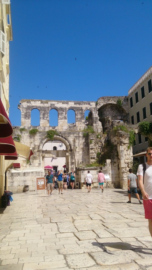 Entrance of the Historical Complex of Split with the Palace of Diocletian