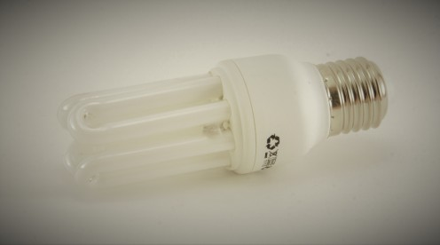 Buy energy efficient light bulbs to save money as they last longer than traditional light bulbs.