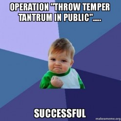 How to Handle Temper Tantrums