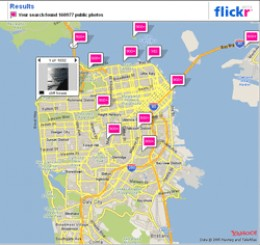 Flickr Maps Mashup - Showing Photos from San Francisco