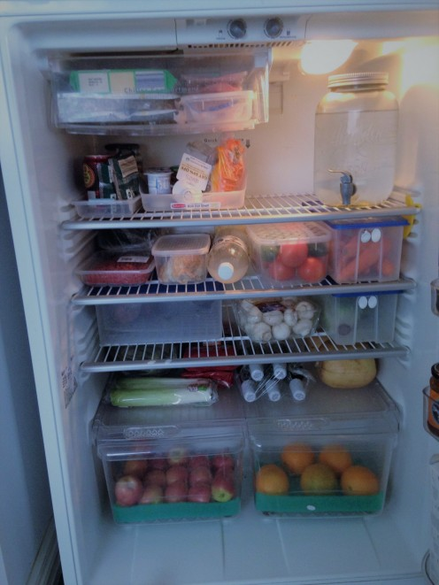 Keep your fridge full and you use up less energy!