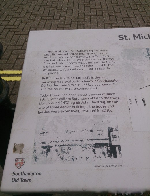 St. Michael's Church lies in the Old Town of Southampton