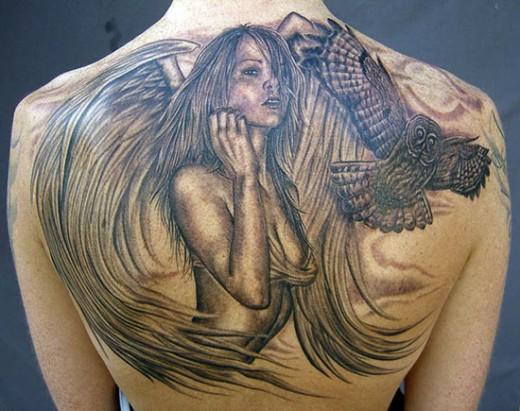 Fantasy Female Angel Tattoo