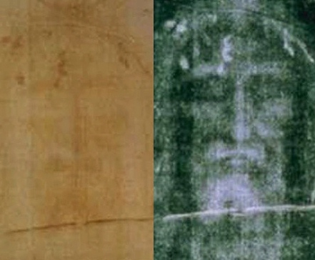Photo of the Shroud of Turin - Photographer Unknown