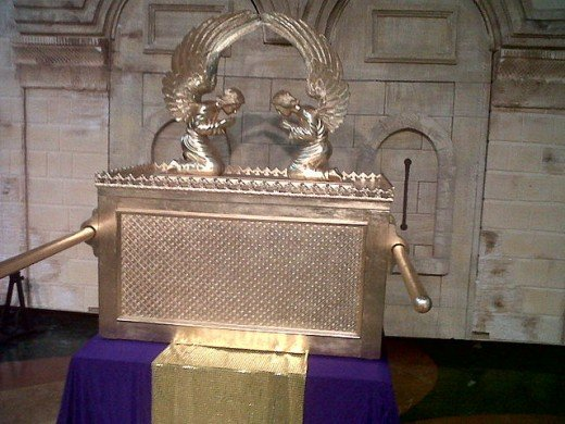 Replica of what the the Ark of the Covenant is believed to look like