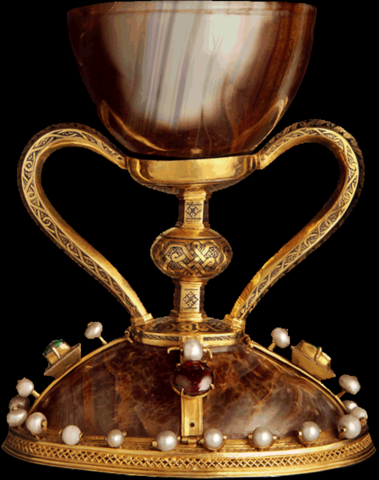 The agate cup believed to be at the Last Supper of Jesus Christ.