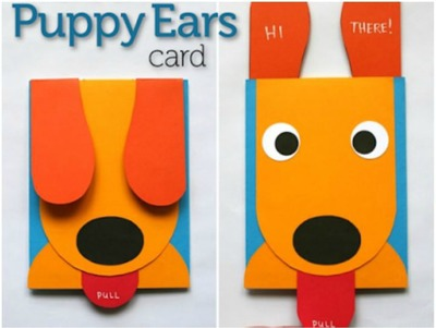 35 diy ideas for making pop up cards feltmagnet puppy greeting card m4hsunfo