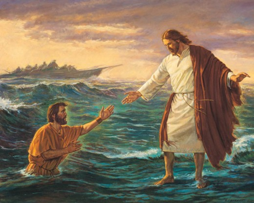 Jesus extending a helping hand