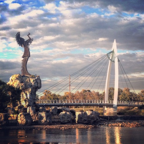 """Keeper of the Plains"" statue in Wichita."
