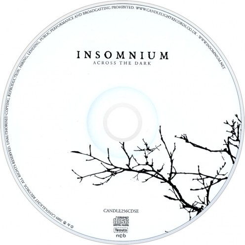 The symbolism in this photo of the CD shows a barren tree with no branches. This is what happens in the middle of winter as the snow falls, the days are shorter and darker and the leaves disappear from the trees. The photo is a symbolism of winter.