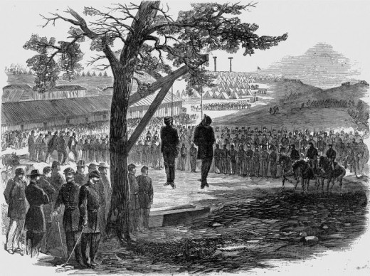 William Orton Williams and his cousin Walter Peters were Confederate officers caught behind Union lines. They were hanged as spies.