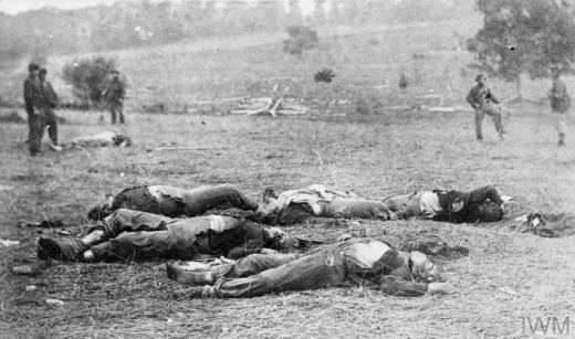 The grim carnage of the Civil War; here at Gettysburg.
