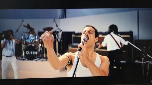 Rami Malek as Freddie Mercury at Live Aid (1985)