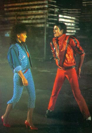 Lovebirds Jackson & Ray; Stunning one-time Playboy Magazine centerfold and supermodel Ola Ray as MICHAEL's girlfriend.