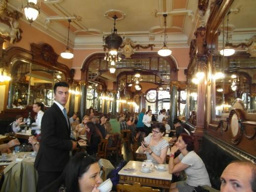 Interior of Café Majestic, Porto.