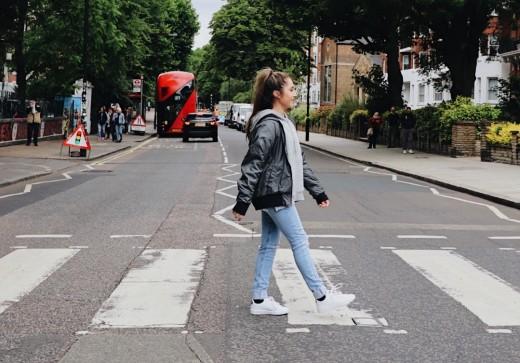 Walking across Abbey Road