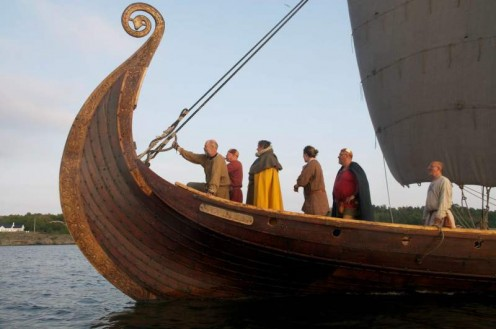 Viking ships Larvik Norway