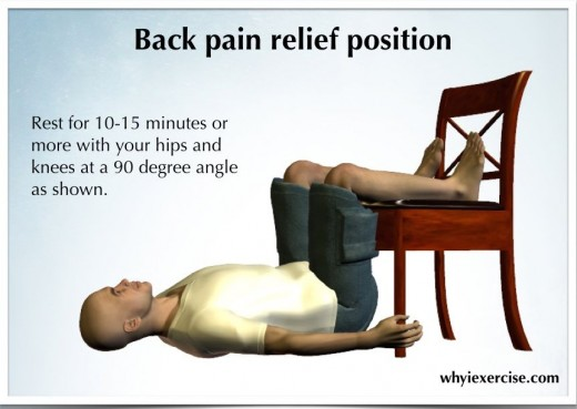 Back pain relief position: Sideways Sitting