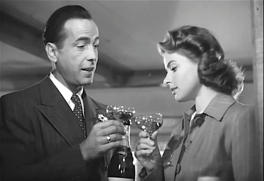 During the filming of Casablanca, actress Ingrid Bergman looked down on her co-star Humphrey Bogart.