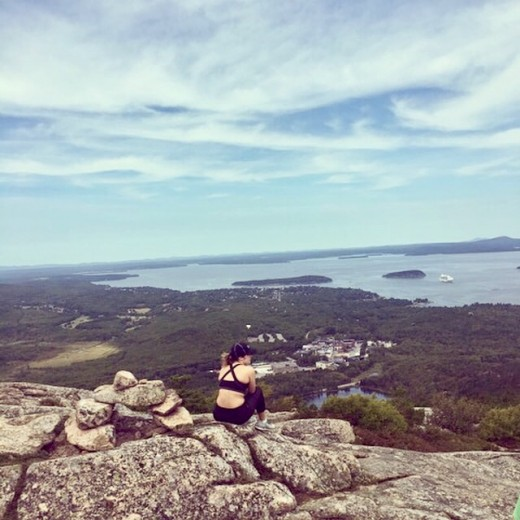View from Champlain Mountain after hiking The Precipice Trail