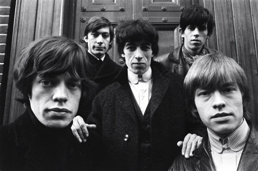 Early days - Charlie, Keith, Bill, Mick and Brian pose for the camera