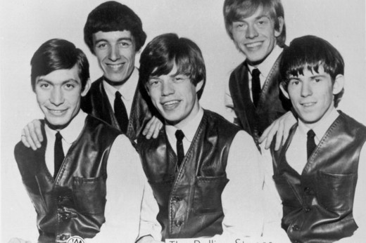 Then along came Andrew Looh Oldham, who tried to put his stamp on their style - suits and ties like the Beatles. Didn't last though....