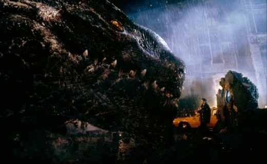 Nick comes face to face with Godzilla