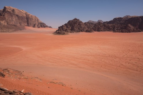 Wadi Rum desert like the surface of Mars