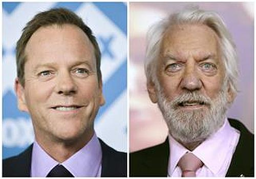 Kiefer Sutherland and his father Donald Sutherland