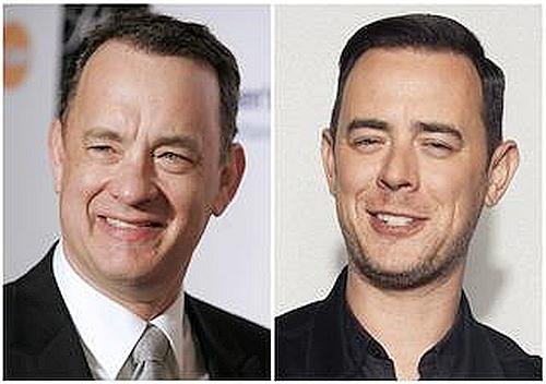 Tom Hanks and his son Colin Hanks