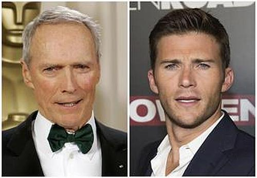Actor-director Clint Eastwood with his son  actor Scott Eastwood