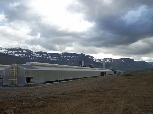 Alcoa's aluminium plant in Reyðarfjörður, Iceland.