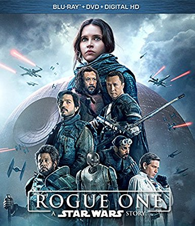 Rogue One: A Star Wars Story blu-ray cover.