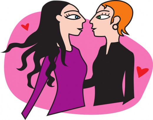 Some bisexuals end up in same-sex relationships.