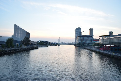 Part of the Manchester Ship Canal today