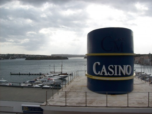 Looks cloudy from over the Mahon Casino