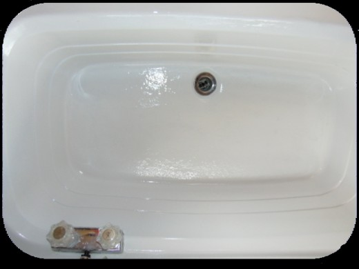 The tub is beautiful once again.