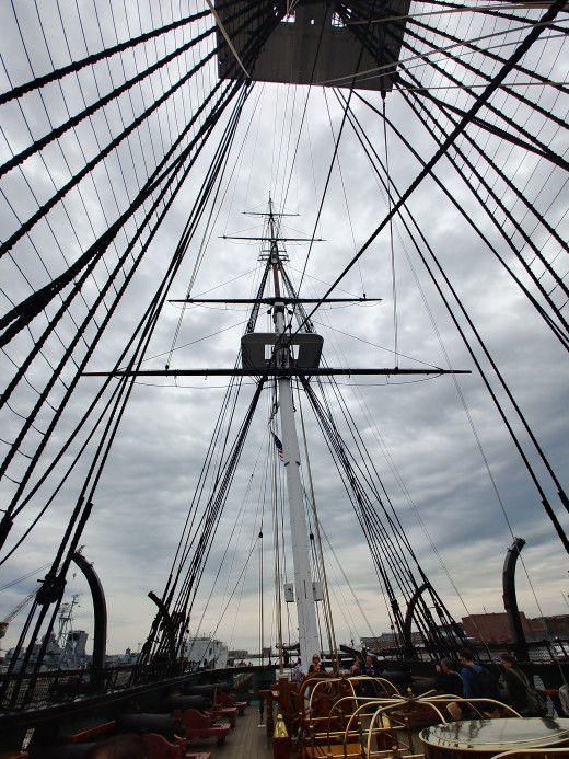 Upper Deck of Old Ironsides